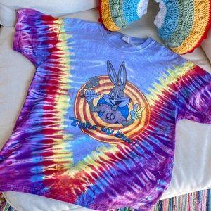 Vintage Dead Stock Shroomy Toons Tye Dye Tee Shirt
